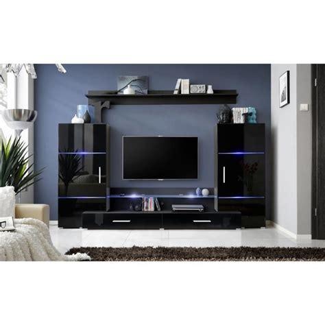 canapé cuir convertible occasion meuble de salon tv complet design led achat