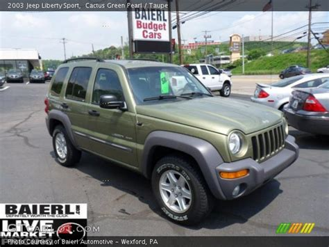 2003 green jeep liberty cactus green pearl 2003 jeep liberty sport taupe