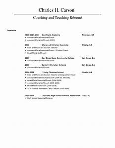 assistant men39s basketball coach resume for coaching position With basketball resume template