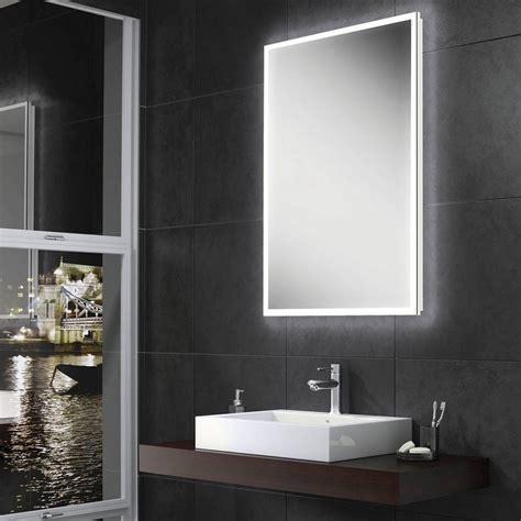 Led Illuminated Bathroom Mirror by Hib Globe Led Illuminated Steam Free Mirror 450 500mm