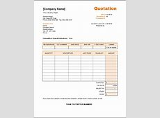 Service Quote Template Word Excel Templates
