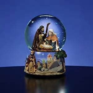 amazon com 5 5 quot musical magi religious nativity scene water globe glitterdome snow globes
