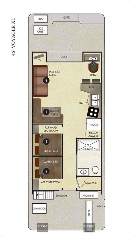 voyager xl economy houseboat   rent