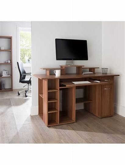 Walnut Desk Diego San Alphason Office Computer