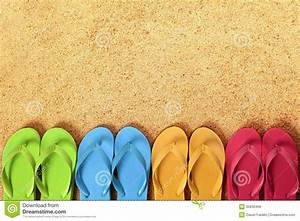 Flip Flops Border, Summer Beach Background, Copy Space ...