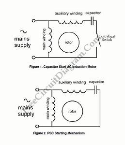 Single Phase Induction Motor Control Theory Circuit