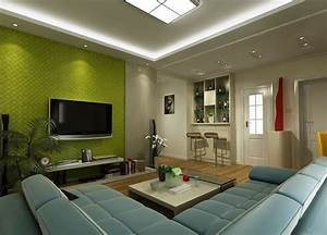 Green TV wall for living room | Download 3D House