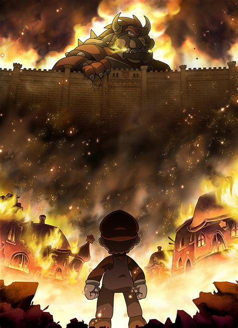 Attack On Titan Bowser By Supercaterina On Deviantart
