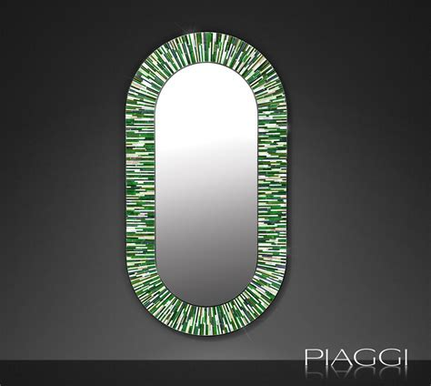 Stadium PIAGGI green glass mosaic mirror   Mirrors
