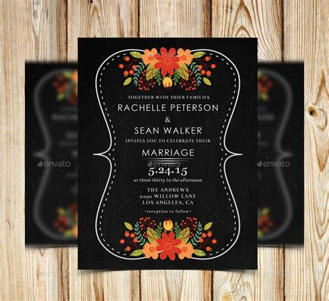 FREE 14+ Chalkboard Wedding Invitation Designs & Examples