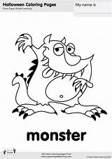 Monster Coloring Halloween Flashcards Pages Super Worksheets Simple Kindergarten Resource Learning Goodbye Friends Printables Songs Monkey Crafts Supersimple Resources sketch template