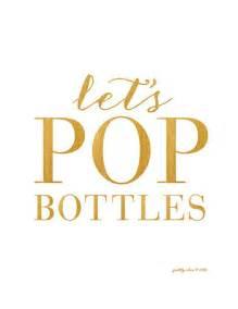 wedding cake bags let 39 s pop bottles print bar cart happy hour gold bar