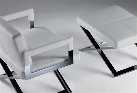 Aster X Footstool By Poltrona Frau Design Jean-marie Massaud