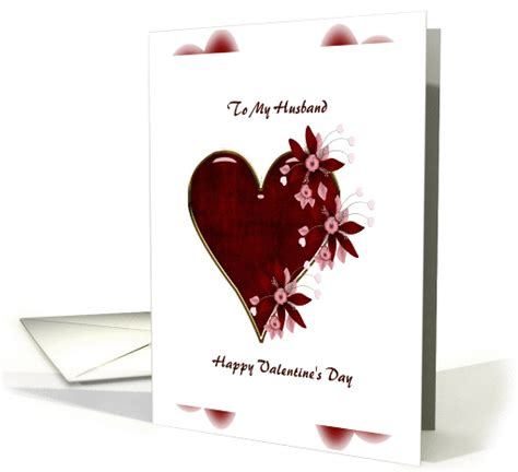 husband happy valentines day card