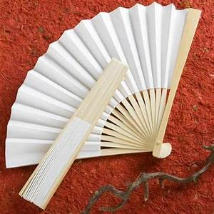 elegant white folding fans wedding favors 1180916 weddbook With fans for wedding favors