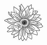 Sunflower Coloring Pages Outline Flower Drawing Printables Colouring Drawings Sunflowers Getdrawings Adult Books Again Bar Looking Case Don Discover sketch template