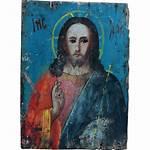 Pantocrator Christ Russian Icon Antique Orthodox