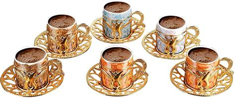 Get the best deal for turkish coffee cup and saucer sets from the largest online selection at ebay.com. Premium Porcelain Turkish Coffee Cups Set of 6 and Saucers - 3 oz.- Gold Espresso Serving Cup ...