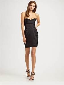 Lyst - Bcbgmaxazria Strapless Sweetheart Mini Dress in Black