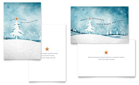 winter landscape greeting card template design