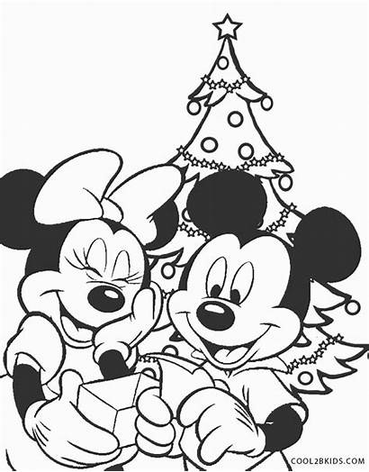 Mickey Mouse Coloring Pages Christmas Printable