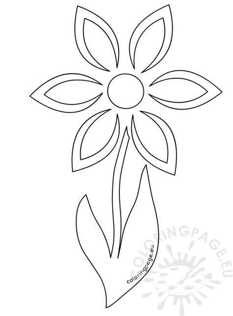 daisy flower stem template coloring page