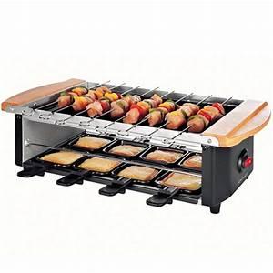 Appareil Raclette Pierrade : appareil raclette 3 en 1 pierre grill et brochette ~ Premium-room.com Idées de Décoration