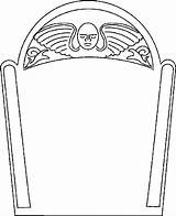 Coloring Pages Tombstone Template Coffin Gravestone Drawing Templates Clipart Headstone Cartoon Halloween Headstones Printable Outline Blank Cliparts Angel Printables Graveyard sketch template