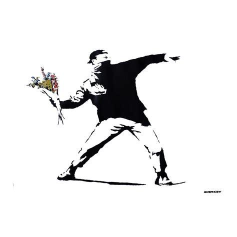 banksy bilder kaufen banksy poster graffiti throwing flowers poster kleinformat jetzt im shop bestellen up gmbh