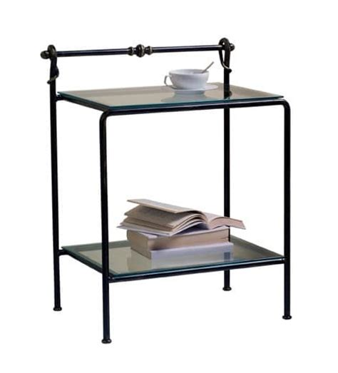 metal and glass nightstand classic bedside table in metal and glass for hotel room