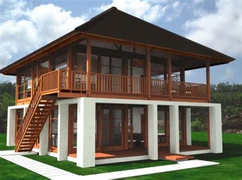 jual rumah kayu desain modern  harga  terjangkau