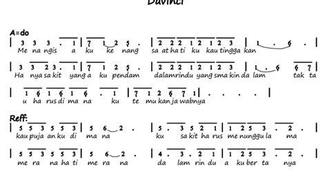 not pianika lagu tetap dalam jiwa not angka pianika lagu rindu merana davinci