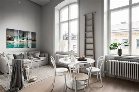 small apartment  black  white   loft bedroom