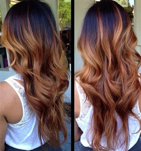 layered hair color ideas 20 ombre hair color ideas brown and black hair