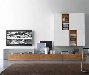 Wohnwand Weiß Holz : livitalia wohnwand c18b m bel wohnzimmer ~ A.2002-acura-tl-radio.info Haus und Dekorationen