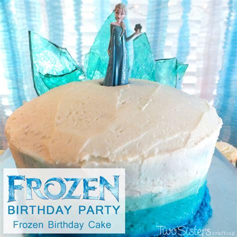 disney frozen birthday cake  ombre frosting