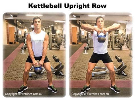 kettlebell upright row exercises muscle