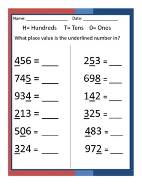 what place value is the underlined digit in by erin zaleski tpt