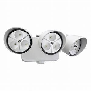 Lithonia lighting head white outdoor led wall mount