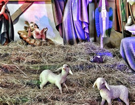 christmas crib stock photo image  gdansk father