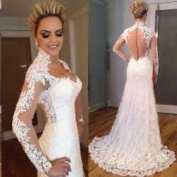 robe de mariã e aliexpress aliexpress acheter romantique longue robe de mariée chérie manches longues cour