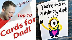 Funny Fathers Day Cards! - YouTube
