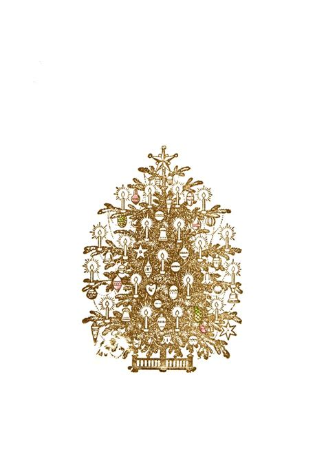 weihnachtsbaum gold umtriebpresse