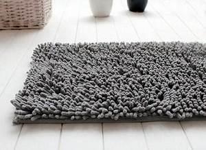 tapis salle de bain chenille gris 990 With tapis de bain de qualité