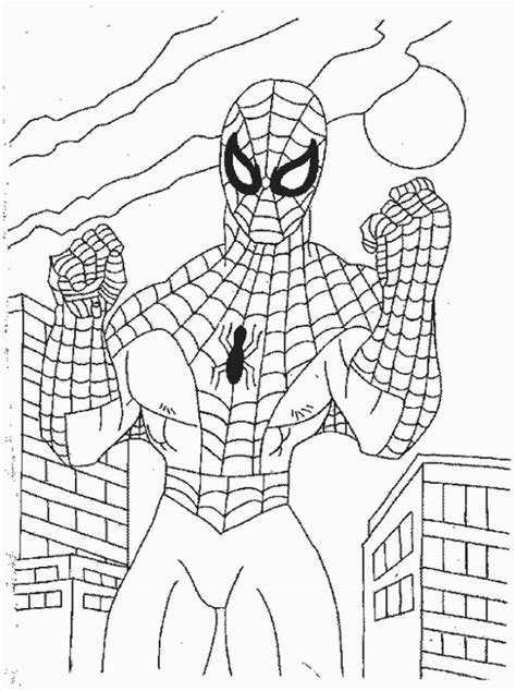 printable easy spiderman coloring pages liste