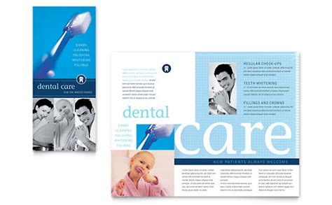 family dentistry tri fold brochure template word publisher