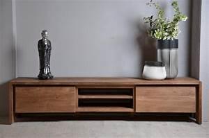 Vente meuble tv en teck dbodhi gamme fissure table salon for Deco cuisine pour meuble tv teck