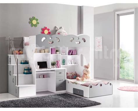lit bureau fille lit mezzanine avec bureau pour fille
