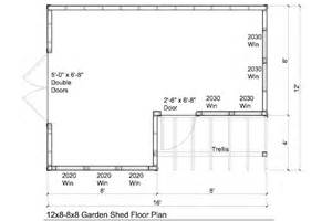 shed house floor plans 12x8 8x8 garden shed plans with trellis