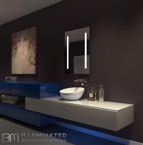 dimmable lighted mirror verano    ib mirror